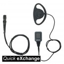 Basic D Shape Earpiece with Mic & PTT