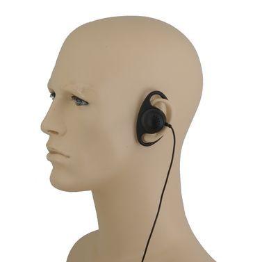 D-35S | Listen Only D Shape Earpiece. 3.5 plug. Short Cable.