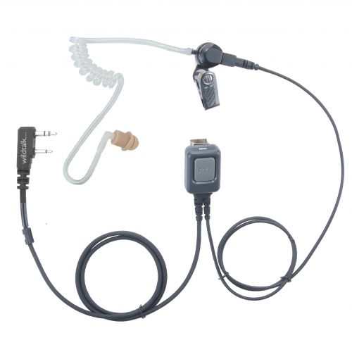 TCC-1W-K | Basic One Wire Covert Earpiece for Kenwood 2 pin