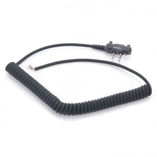 CURLY-IS | Icom Screw Down Plug Curly Cable