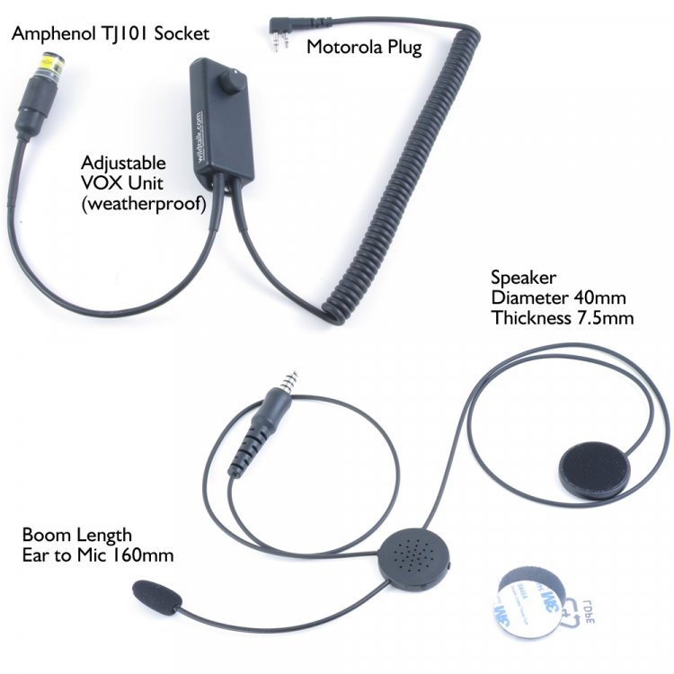 Wireless Headset for Motorcycling and